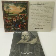 Fine Books & Manuscripts Bonhams Catalog 2017 Lot Of 3