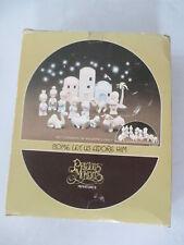 1988 Enesco Precious Moments Miniatures 11 Piece Christmas Nativity Set E-2395