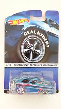 Hot Wheels 2015 Real Riders 6/18 Custom Chevy Greenbrier Sports Wagon (A+/A)