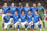 Football Soccer Italian Postcard Italy National Team Euro 2012 Final v Spain 43K
