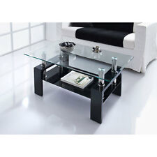 Modern Stylish & Luxury Nevada Glass Coffee Table In Black Home Furniture