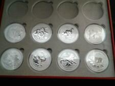 8 Coin Lot- 2012-2019 1 oz Australia Lunar Series 2 Lion Privy Silver Set