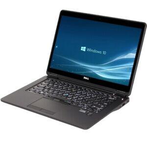 "Dell Latitude E7450 i5-5300u 2,3Ghz 8GB RAM 256GB SSD NvMe 14""  Akku gut Win10"
