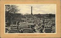 Alexandria Alexandrie Ägypten Egypt ~1910 Colonne pompée et Cimetière Friedhof