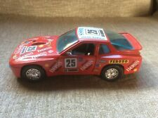 PORSCHE 924 TURBO RACE CAR RED WITH BLACK INTERIOR 1:24 BURAGO DIE-CAST UNBOXED