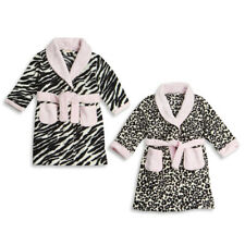 Baby Babies Girls Dressing Gown Animal Print Fleece Fluffy Robe By BABYTOWN