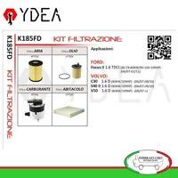Kit Tagliando Filtri Ford Focus II 1.6 Volvo C30 S40 II V50 1.6 D - Ydea K185FD