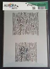 Stencil by Aurora Arts A4 tree bark Wood grain 190mic Mylar craft stencil 070