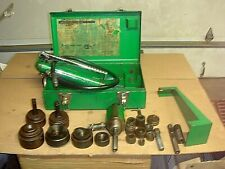 Greenlee 7306 Hydraulic Knockout Punch Driver Set 787 Pump
