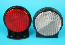 2 x Outline Reflectors on Bracket - Red & White - for Erde & Daxara Trailers