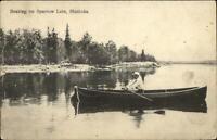 Muskoka Ontario Boating Sparrow Lake c1910 Postcard