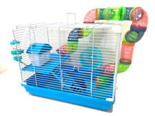 2-Floors Syrian Hamster Home Rodent Gerbil Mouse Mice Habitat House Tunnel Cage