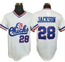 Chicks Jerseys #28 Bo Jackson Men's Baseball Jerseys Shirt White Stitched New
