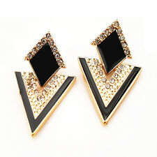 Geometric Triangle Crystal Chromophous Sparkling Earrings for Women Jewelry New