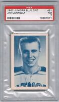1952-53 Juniors Blue Tint Hockey Card Guelph Biltmores Jim Connelly Graded PSA 7