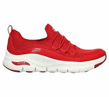 Skechers Arch Fit - Lucky Thoughts [149056RED] Women Casual Shoes Red