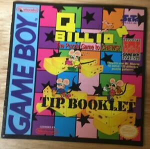 Q Billion Tip Booklet Nintendo Game Boy RARE