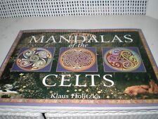 "Mandalas of the Celts coloring book 10 3/4"" x8 1/4"" by Klaus Holitzka 31 pages"