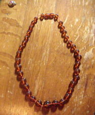 Retro  Vintage MID CENTURY Real AMBER BEADS NECKLACE