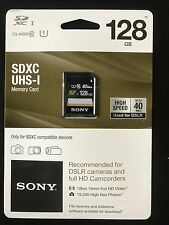 SONY 128GB UHS-I SDXC Class 10 40MB/s, 32hr HD Video