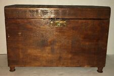 Beautiful 19TH C AMERICAN FOLK ART DOCUMENT BOX Tea Caddy Miniature Chest Lock