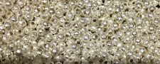 Silver Metal Stardust Bead 4mm X 100