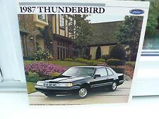 1987 Ford Thunderbird estados unidos auto folleto car brochure catalogo catálogo!!!