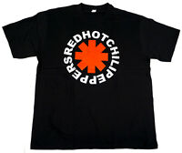 RED HOT CHILI PEPPERS Vintage Logo T-shirt RHCP Black Rock Tee Adult Men  New