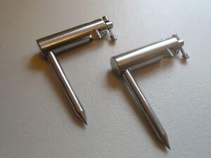 2 x Stainless Steel Single arm 16m Diameter Bankstick Stabilizers. 8cm Leg.