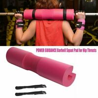 Pink POWER GUIDANCE Barbell Squat Pad for Hip Thrusts Squats Lunge Sport Sponge