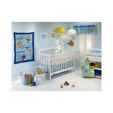 Disney 4 Piece Crib Nemo Wavy Days Bedding Set Comforter Sheet Baby Nursery Fish