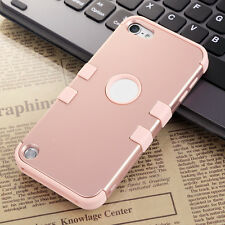 Rose Gold Hybrid Protective Shockproof Cover Case For Apple iPod Touch 5/6th Gen