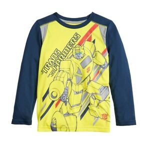 Jumping Beans Youth Boys Transformers Bumblebee Moisture Wicking Shirt New 4-8