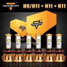 6x AUXBEAM H9 H11 H8 LED Headlight Hi/Lo Fog Bulb Turbo for Toyota Tacoma 16-19