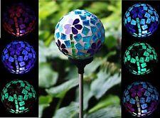 Solar Power Flower Ball Garden Stake Lamp Landscape Color Change Yard LED Light