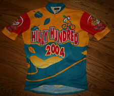 Hilly Hundred 2004 Indiana Cycling bike Jersey shirt Men's Small-3/4 zip-VOmax