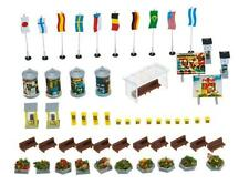 Faller N Scale Scenery Accessory Kit Town Accessories Phone Booth/Flower Pots