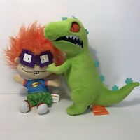 "Lot of 2 Nickelodeon Rugrats 12"" Stuffed Plush Toys: Chuckie Finster & Reptar"