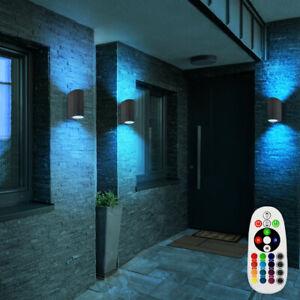Ensemble de 3 appliques extérieur LED RGB projecteur de façade commande distance