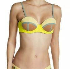 MAAJI Firefly Timbers underwire reversible bandeau bikini top L NEW $67