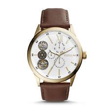 e0bf69758300 Reloj Pulsera Fossil herrennuhr Flynn Bq2218 mano herida Marrón