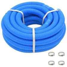 vidaXL Tuyau de Piscine Bleu Tuyau Pompe de Filtration Vidange Multi-taille