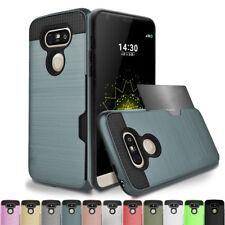 Shockproof Card Pouch Hybrid Rubber Hard Case Cover For LG K10 K8 K7 K5 K4 2016