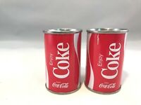 Vintage COCA COLA Tin Soda Cans, Salt and Pepper Shakers