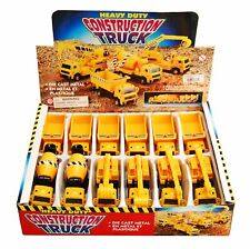 Construction Trucks Diecast Car Package Box Of 12 Assorted 4.5 Inch Scale
