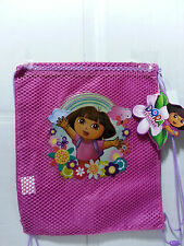 12 PCS DORA THE EXPLORER GIRL DRAWSTRING BAGS PARTY