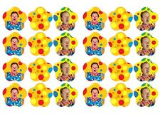MR TUMBLE # Edible cake party toppers x 24