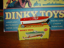 Dinky #796 Healey Sports Boat & Trailer - Rare Red Version!! Price Reduced!!