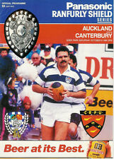 Auckland v Canterbury 6 Oct 1990 Ranfurly Shield, NZ Rugby Programme