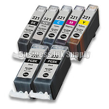 7* PACK PGI-220 CLI-221 Ink Tank for Canon Printer Pixma MP980 MP990 NEW